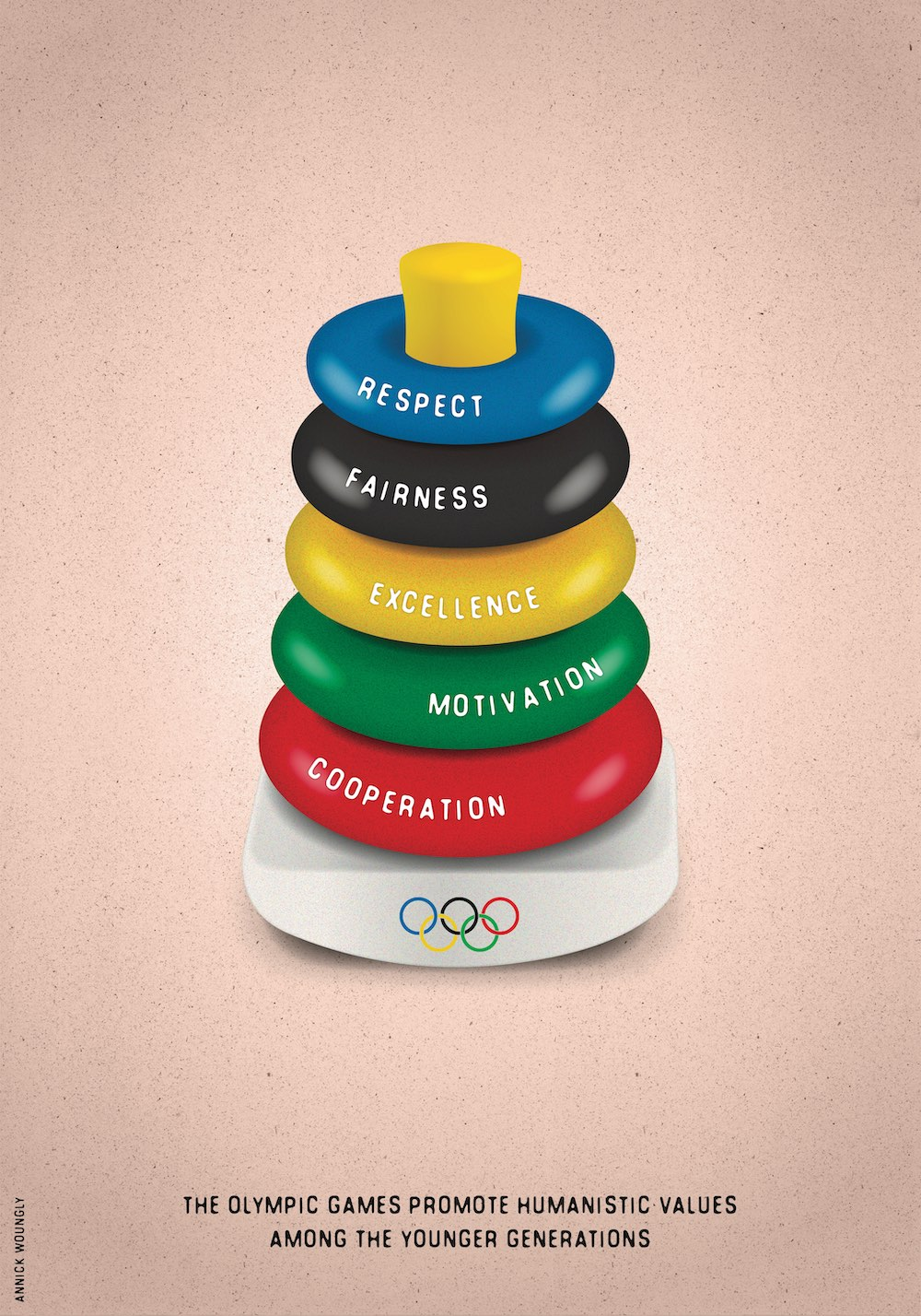 Olympic Education. Poster. Annick Woungly.