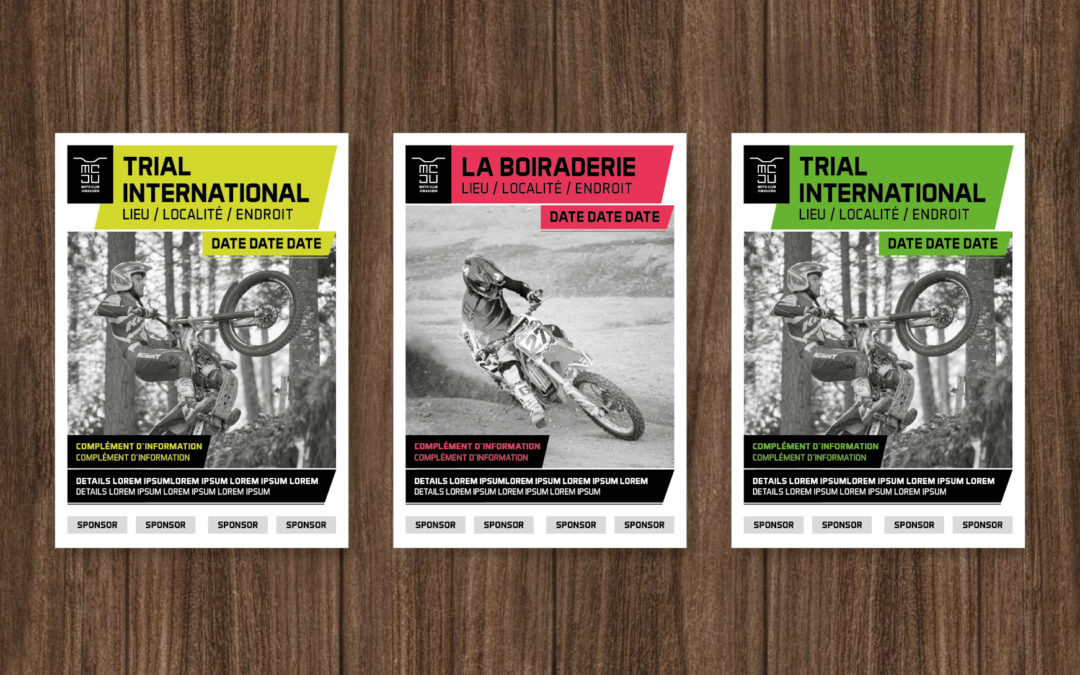 New poster concept for the Moto Club Jurassien