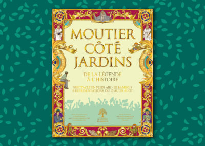 "Poster for the theater play ""Moutier côté Jardins"""