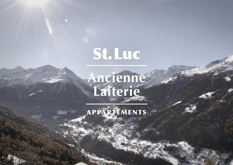 St. Luc. Ancienne Laiterie. Appartements. Identité visuelle. Logo. Annick & Yannick.