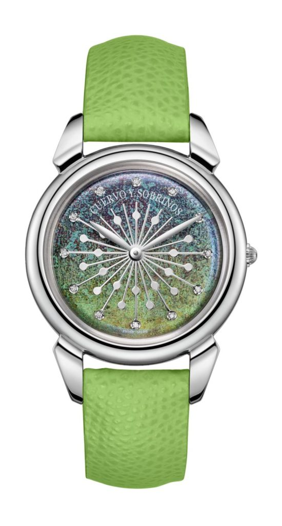 The watch we designed for Cuervo y Sobrinos is in the top ten list of best watches with a green dial.