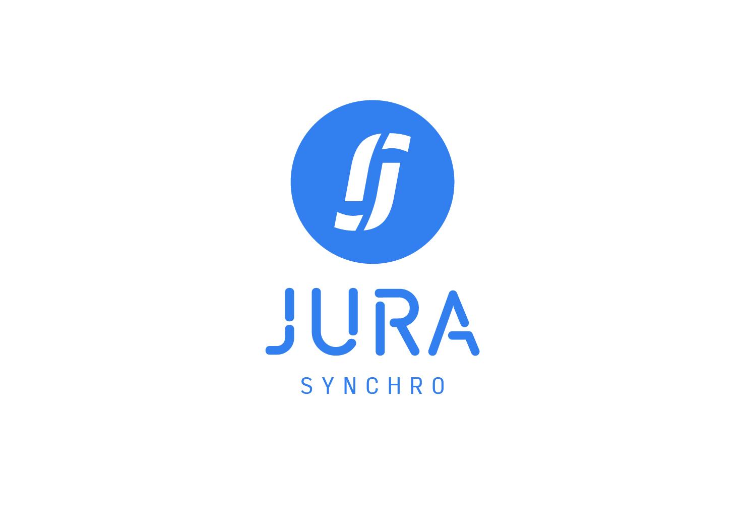 Jura Synchro Logo. Design by Annick & Yannick. Jura.